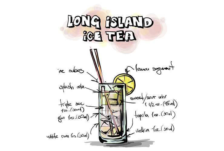 Long Island Ice Tea Zutaten